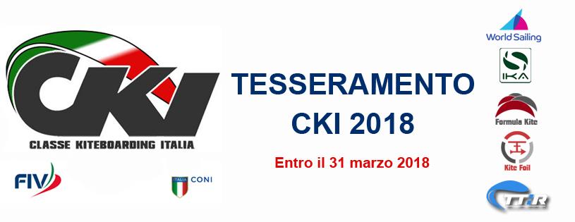 Tesseramento CKI 2018